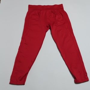 Fabletics red leggings Sz: M